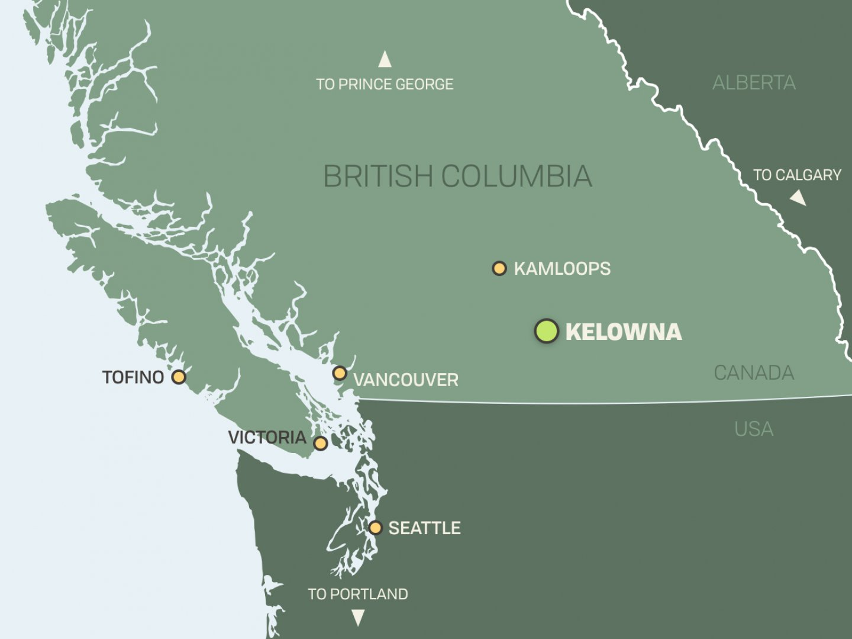 Map Of Canada Showing Kelowna.Kelowna British Columbia Host City For 2019 Iitc